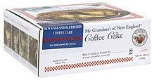 coffee cake new england blueberry My Grandmas of New England Nutrition info