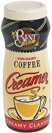 coffee creamer non-dairy, creamy classic Best Yet Nutrition info