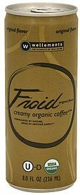 coffee drink creamy organic, original flavor Froid Nutrition info