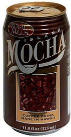 coffee drink island mocha Royal Mills Nutrition info
