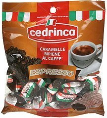 coffee filled candies espresso Cedrinca Nutrition info