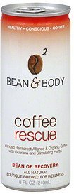 coffee rescue Bean & Body Nutrition info