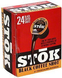 coffee shot black Stok Nutrition info
