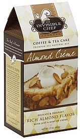 coffee & tea cake mix almond creme The Invisible Chef Nutrition info