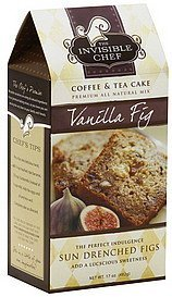 coffee & tea cake mix vanilla fig The Invisible Chef Nutrition info