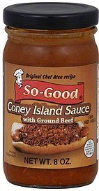 coney island sauce with ground beef So-Good Nutrition info