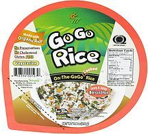 cooked rice on-the-go go, zesty & spicy mexican green Go Go Rice Nutrition info