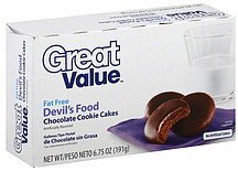 cookie cakes chocolate, devil's food Great Value Nutrition info