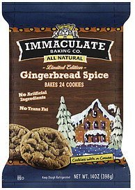 cookie dough gingerbread spice Immaculate Baking Co. Nutrition info