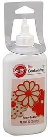cookie icing red Wilton Nutrition info