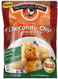 cookie mix chocolate chip Nutrition First Nutrition info