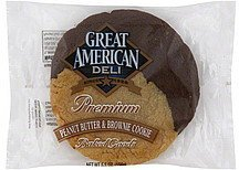 cookie peanut butter & brownie Great American Deli Nutrition info
