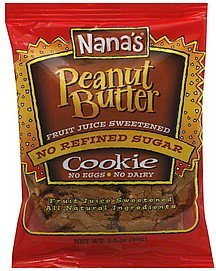cookie peanut butter Nanas Nutrition info