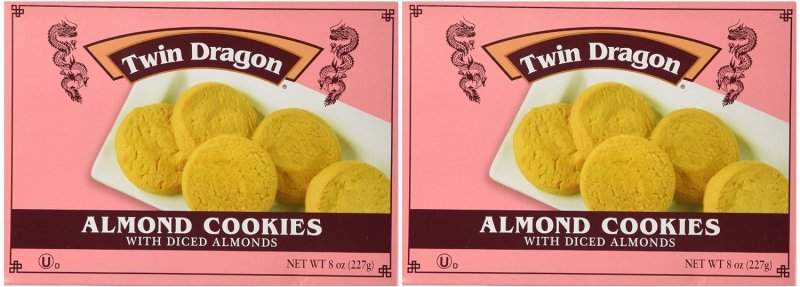 cookies almond Twin Dragon Nutrition info