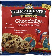 cookies chocobillys, chocolate chunk Immaculate Baking Co. Nutrition info