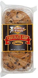 cookies chocolate chip flavored Bakery Fresh Nutrition info