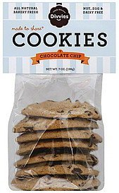 cookies chocolate chip Divvies Nutrition info