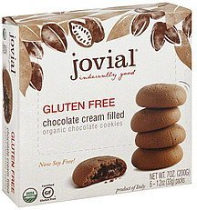 cookies chocolate, chocolate cream filled, organic Jovial Nutrition info