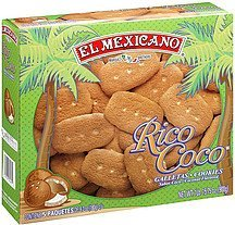 cookies coconut flavored El Mexicano Nutrition info