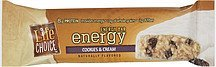 cookies & cream energy bar Life Choice Nutrition info