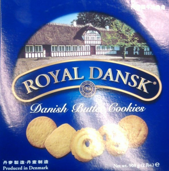 cookies danish butter Royal Dansk Nutrition info