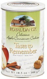 cookies delicious apple cinnamon Royal Dansk Nutrition info