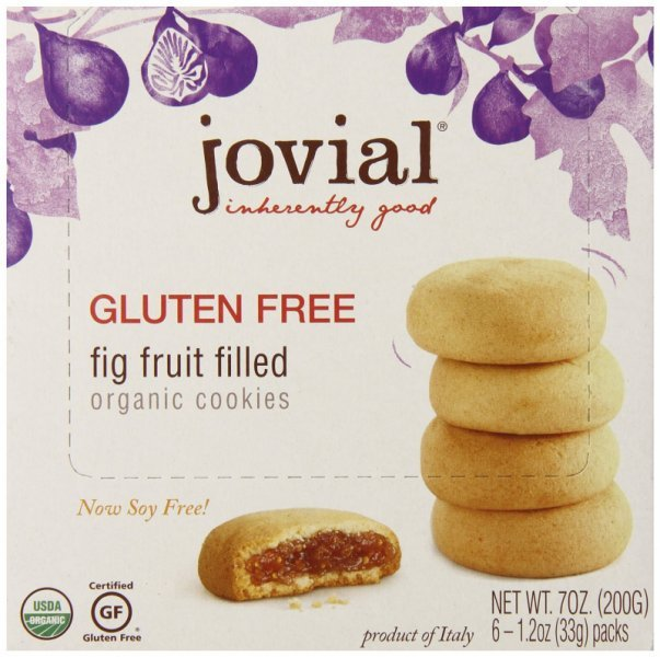 cookies fig fruit filled, organic Jovial Nutrition info