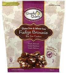 cookies fudge brownie, bite size Simply Sharis Nutrition info