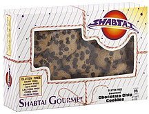 cookies gourmet chocolate chips Shabtai Gourmet Nutrition info