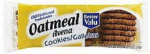 cookies oatmeal Better valu Nutrition info