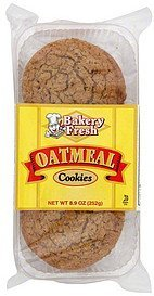 cookies oatmeal Bakery Fresh Nutrition info