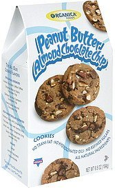 cookies peanut butter almond chocolate chip Organica Foods Nutrition info