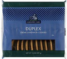 cookies sandwich creme duplex Midwest Country Fare Nutrition info