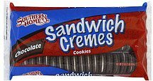 cookies sandwich cremes, chocolate Southern Home Nutrition info
