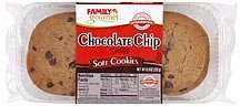 cookies soft, chocolate chip flavored Family Gourmet Nutrition info