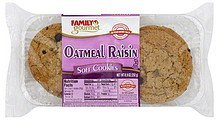 cookies soft, oatmeal raisin Family Gourmet Nutrition info