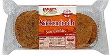 cookies soft, snickerdoodle Family Gourmet Nutrition info