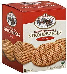 cookies stroopwafels, maple Shady Maple Farms Nutrition info