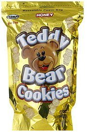 cookies teddy bear, bite size, honey Global Brands Nutrition info