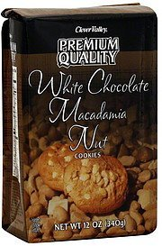 cookies white chocolate macadamia nut Clover Valley Nutrition info