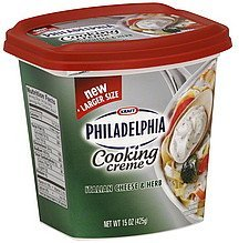 cooking creme italian cheese & herb Philadelphia Nutrition info