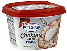 cooking creme original Philadelphia Nutrition info