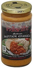 cooking sauce concentrated, butter masala, medium Indianlife Nutrition info