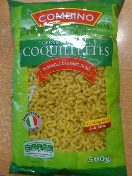 coquillettes Combino Nutrition info