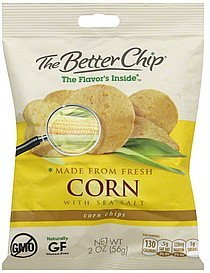 corn chips corn with sea salt The Better Chip Nutrition info