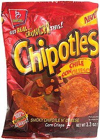 corn crisps smoky chipotle n' cheese, chile con queso Chipotles Nutrition info