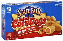 corn dogs mini, beef State Fair Nutrition info