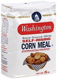 corn meal and wheat flour, self-rising Washington Nutrition info