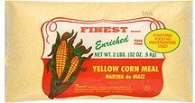 corn meal fine, yellow Finest Brand Nutrition info