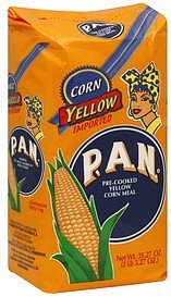 corn meal pre-cooked, yellow P.A.N. Nutrition info